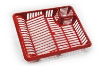 TML Large Dish Drainer - Red Glitter